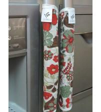 Pair of refrigerator decorative handles cover