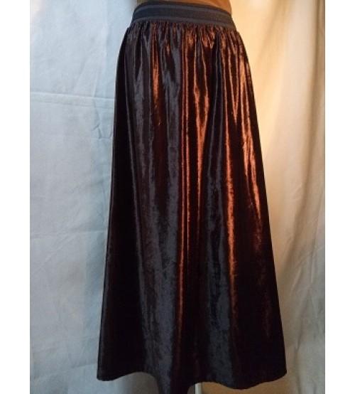 velvet skirt-Dresses